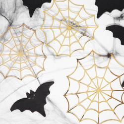 Pappersdekorationer Spindelnät Guld