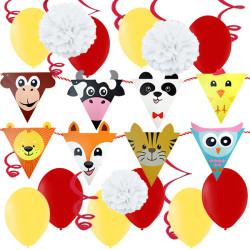 Dekorations-kit Färgglada djur