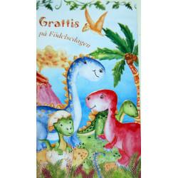 Gratulationskort Dinosaurier