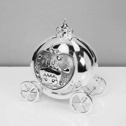 Silverpläterad sparbössa Prinsessvagn