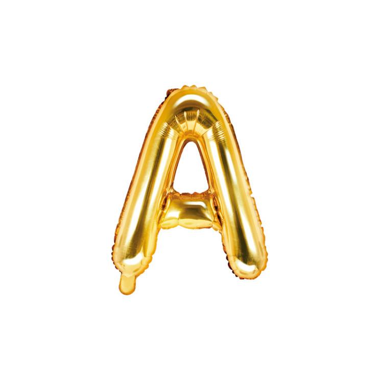Bokstavsballong Guld 35 cm