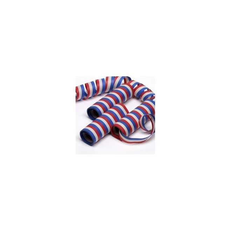 Serpentiner blå,vit,röd
