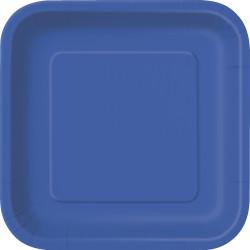 Kvadratisk Tallrik Blå