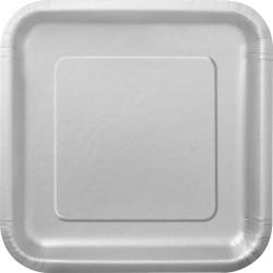 Kvadratisk Assiett Silver