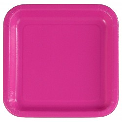 Kvadratisk Tallrik Hot Pink