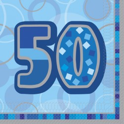 Blue Glitz 50 år Servetter