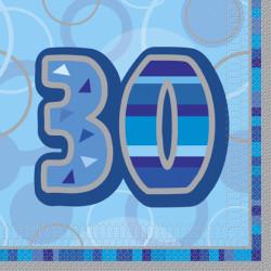 Blue Glitz 30 år Servetter