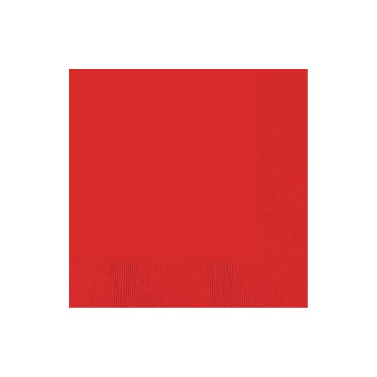 Lunchservett Röd