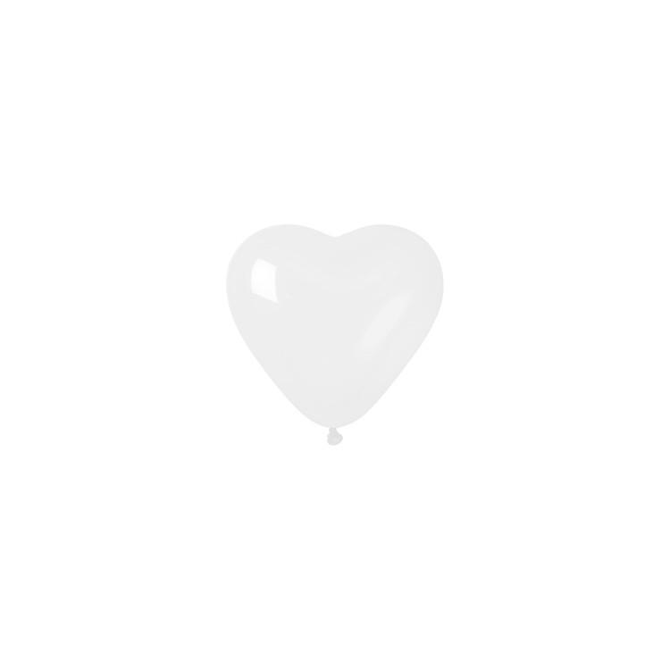 Hjärtformad ballong Vit