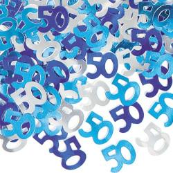 Konfetti 50 blå