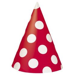 Röd Polka Dot Partyhatt