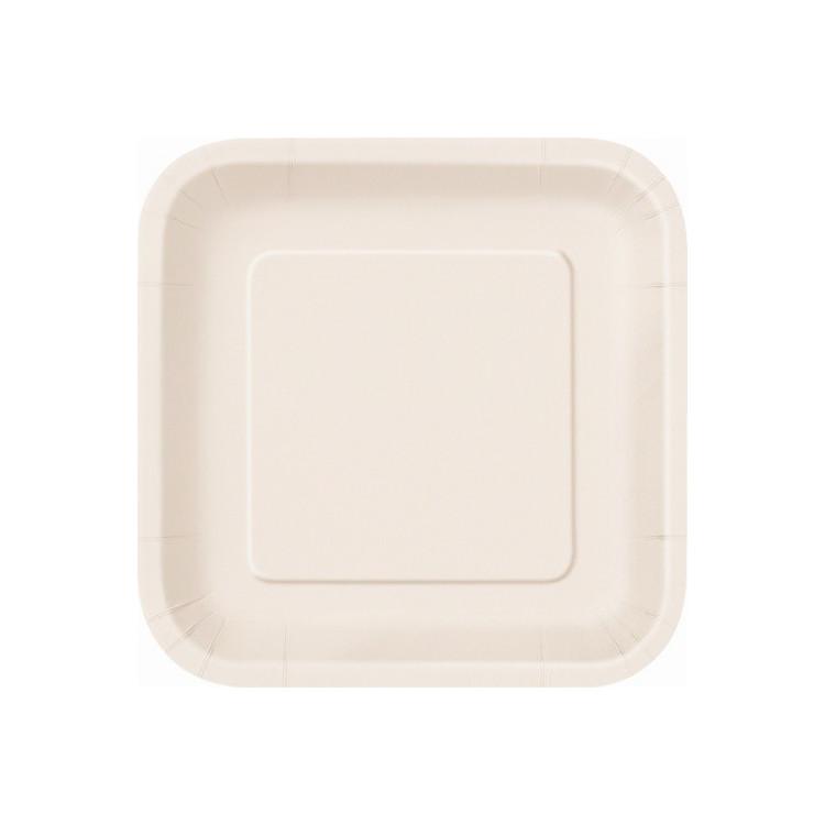 Kvadratisk Assiett Ivory