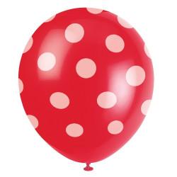 Röd Dots Ballonger