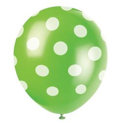 Limegrön Dots Ballonger