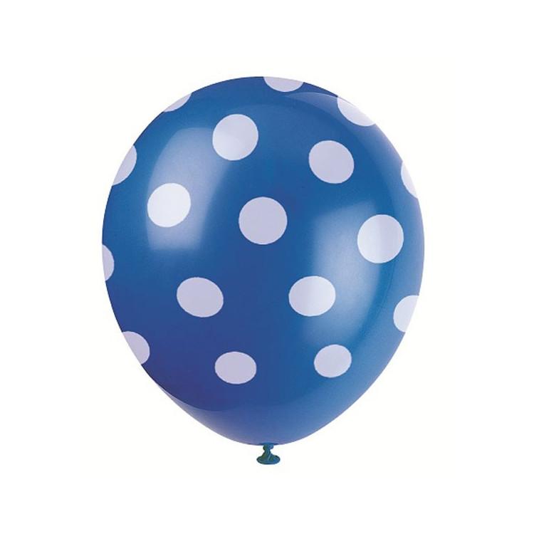 Blå Dots Ballonger