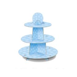 Muffinsställning Ljusblå Dots