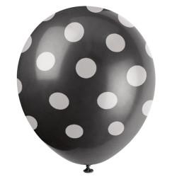Svart Dots Ballonger