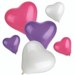 Hjärtformade ballonger Mix