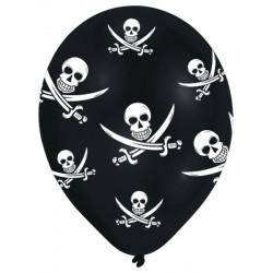 Ballonger med dödkallar& svärd