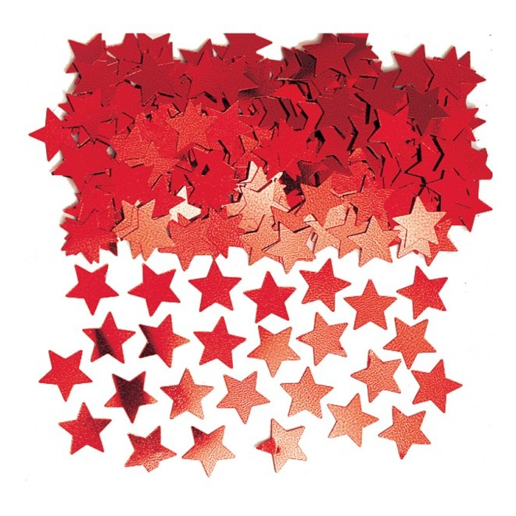 Konfetti Stjärna Röd