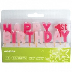 "Tårtljus ""Happy 1st Birthday"""