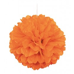 Pappersboll Dekoration Orange