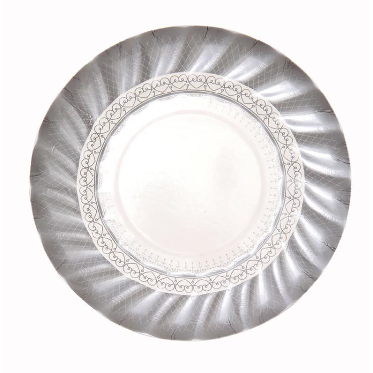Pappersassietter Silver Porslin