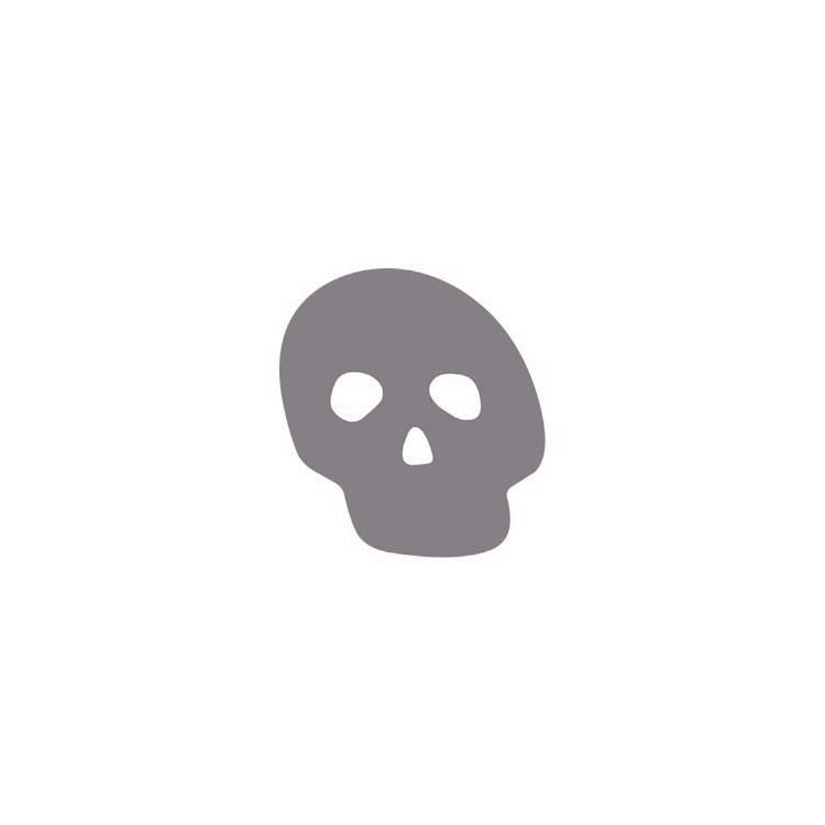 Klistermärke Dödskalle
