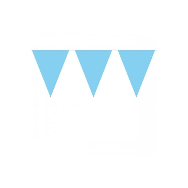 Flaggirlang Mini Ljusblå