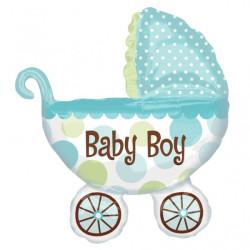 Folieballong Barnvagn Blå