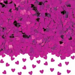Konfetti Hjärta Hot pink/lila