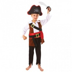 Piratdräkt med svärd och hatt