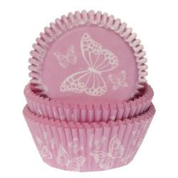 Muffinsformar Rosa med fjäril