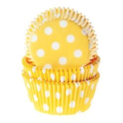 Muffinsformar Gula med prickar