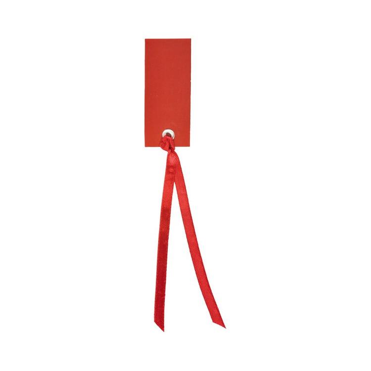 Namnetikett Röd