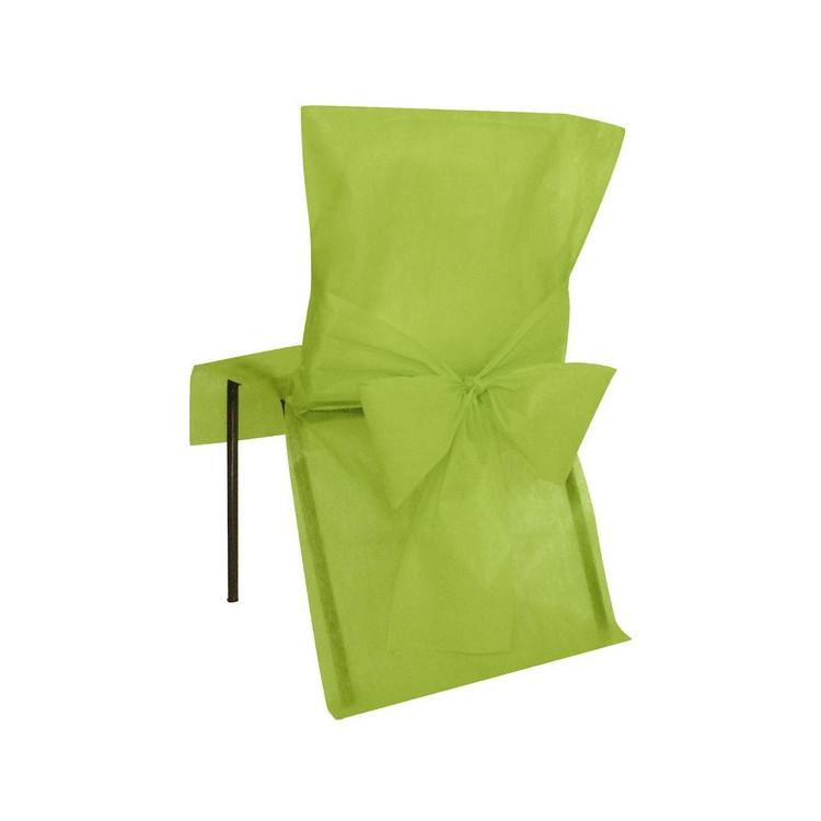 Stolsöverdrag Limegrön 4 - pack