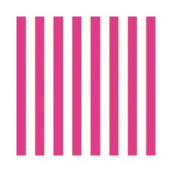 Servetter Randiga Hot Pink