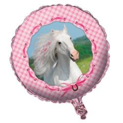 Folieballong Vita Hästen