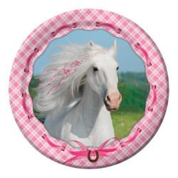Tallrikar Vita Hästen