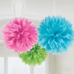 Dekorationsbollar Rosa,blå,lime