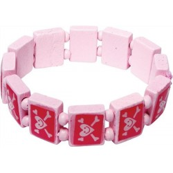 Piratarmband Rosa