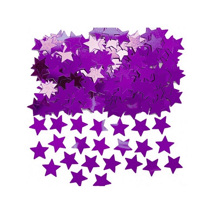Konfetti Stjärna Lila