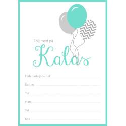 Inbjudningskort Ballonger