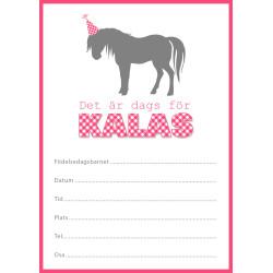 Inbjudningskort Häst