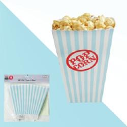 Popcornbox Ljusblå Rand