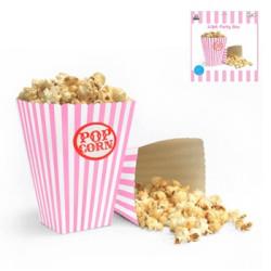 Popcornbox Ljusrosa Rand