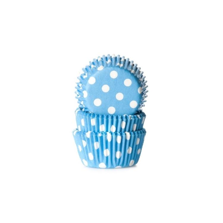 Muffinsformar Ljusblå med prickar