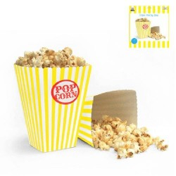 Popcornbox Gul Rand