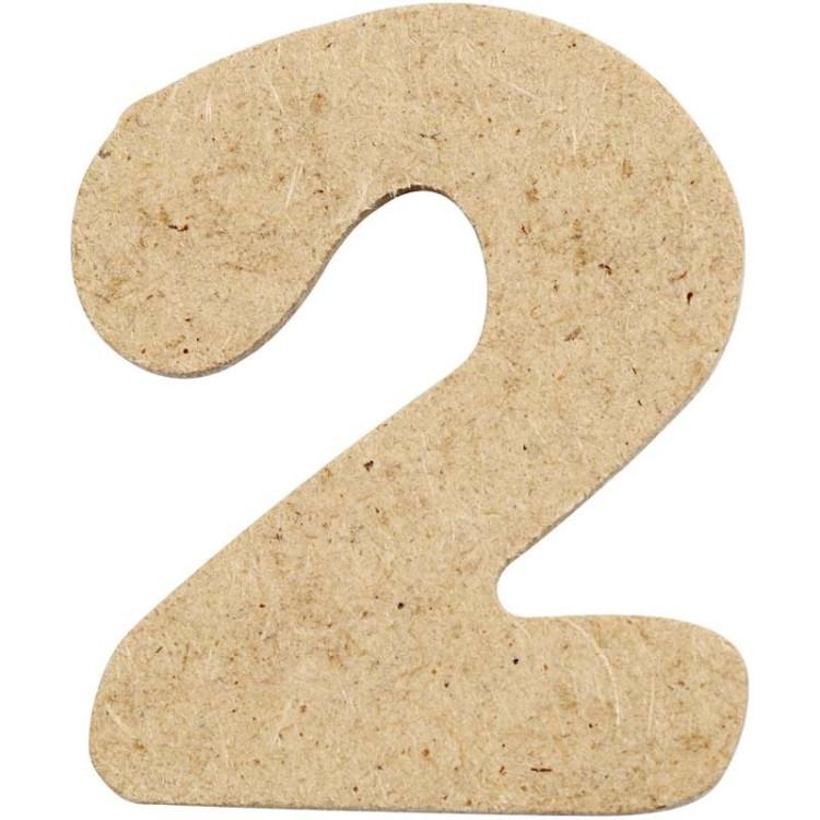 Siffra 1 av trä för pyssel