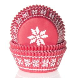 Bakformar Röd med snöflinga
